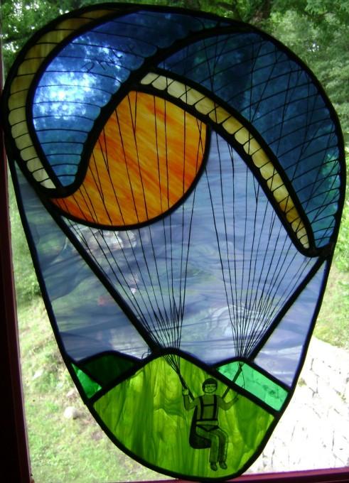 Atelier de vitrail isa b for Peinture sur fenetre